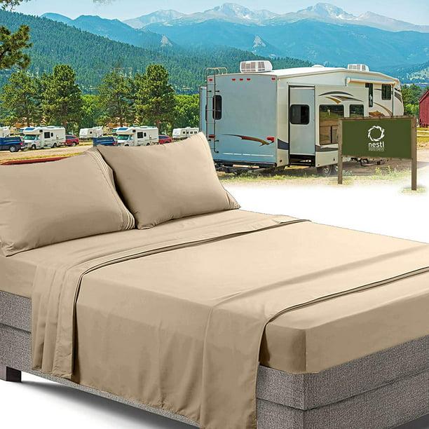 Rv Short Queen Bed Sheets Set Bedding, Rv Queen Bedspreads