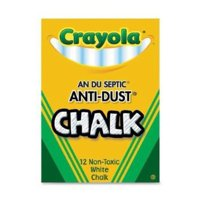 Buy Bulk: Crayola Nontoxic Anti-Dust Chalk, White, 12 Sticks/Box (50-1402) Case of 72 Dozens