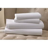 "GHP 1-Pc 60""x80""x12"" Queen Size T-200 Percale Deep Pocket White Hotel Fitted Sheet"