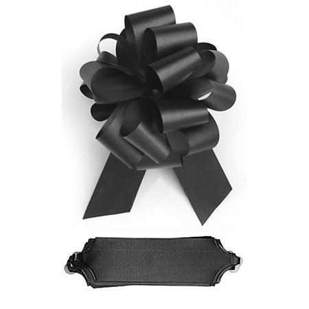 Black Suede Bow - 10 Black Pull 5.5