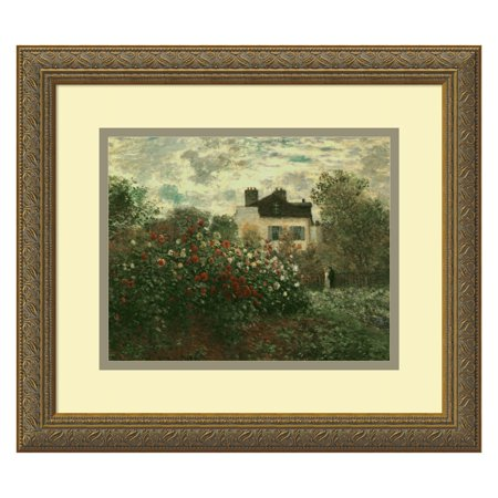 The Artist's Garden at Argenteuil, 1873 Framed Wall Art by Claude Monet - 16.12W x 14.12H in.