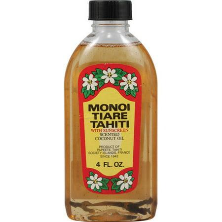 Monoi Tiare Tahiti With Sunscreen Scented Coconut Oil - 4 (Sunscreen Scented Coconut Oil)