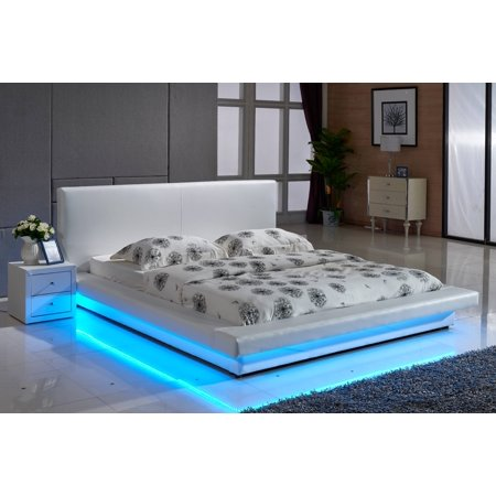 Light Up Beads (US Pride Furniture Faux Leather Platform Bed with LED)