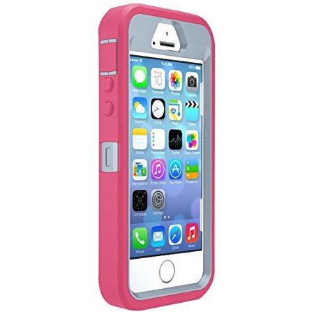 OtterBox Defender Case for Apple iPhone 5, 5s, SE Case Only Pink and Grey (Iphone 5s Otterbox Cases)