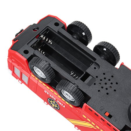 2 Types Firefighters Fire Engines Electric Universal Toy Car Can Water Sprey with Music Colorful Lights - image 3 de 8