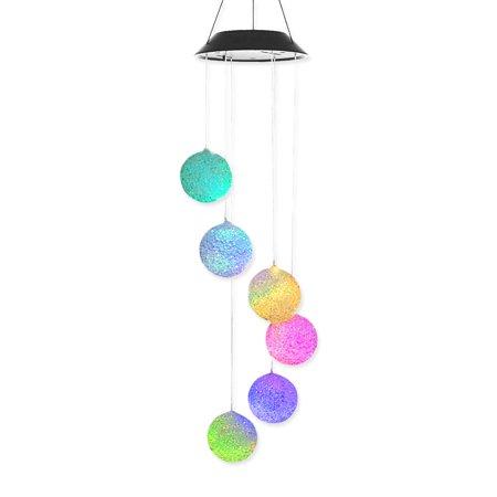 Spiral Wind Sculpture - Solar-powered Outdoor Wind Bell Light Spiral Spinner Light Mobile Wind Chime Bell Creative Solar LED Light Hanging Decoration Lamp