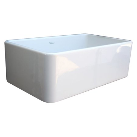 Whitehaus Farmhaus Fireclay Quatro Alcove - WhiteHaus Large Quatro Alcove WH3018 30 in. Single Basin Kitchen Sink
