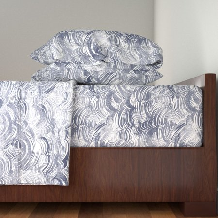 Wild Ocean Custom Nautical Sailing 100% Cotton Sateen Sheet Set by Roostery ()