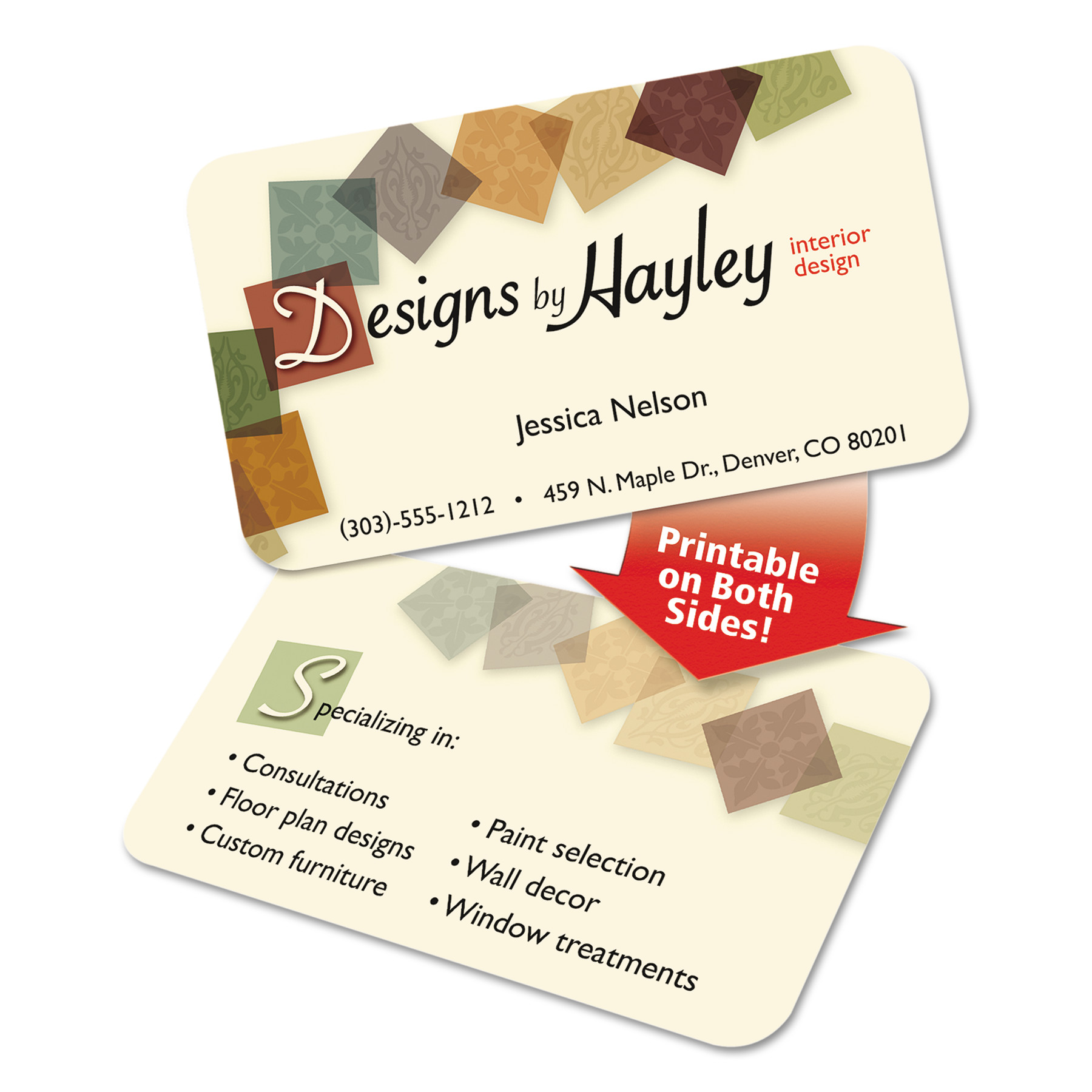 avery round corner print to the edge business cards inkjet 2 x 3 1