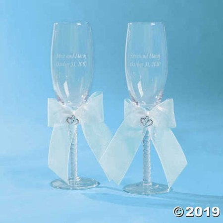 Two Hearts Wedding Champagne Flute - Wedding Champagne Flutes