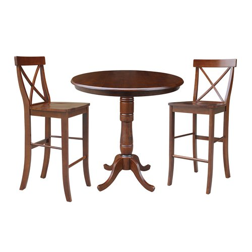 Darby Home Co Dingler 3 Piece Pub Table Set