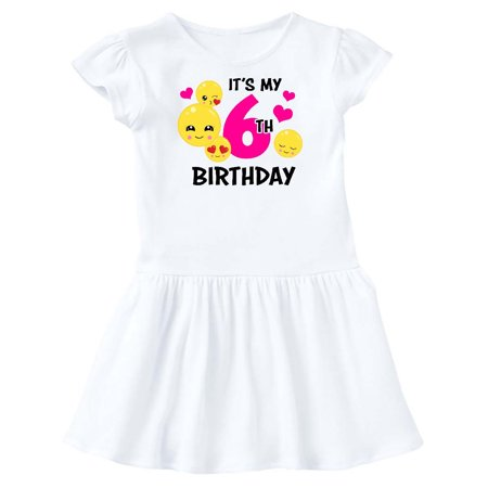 Its My 6th Birthday with Emojis Toddler Dress - 6th Grade Graduation Dresses