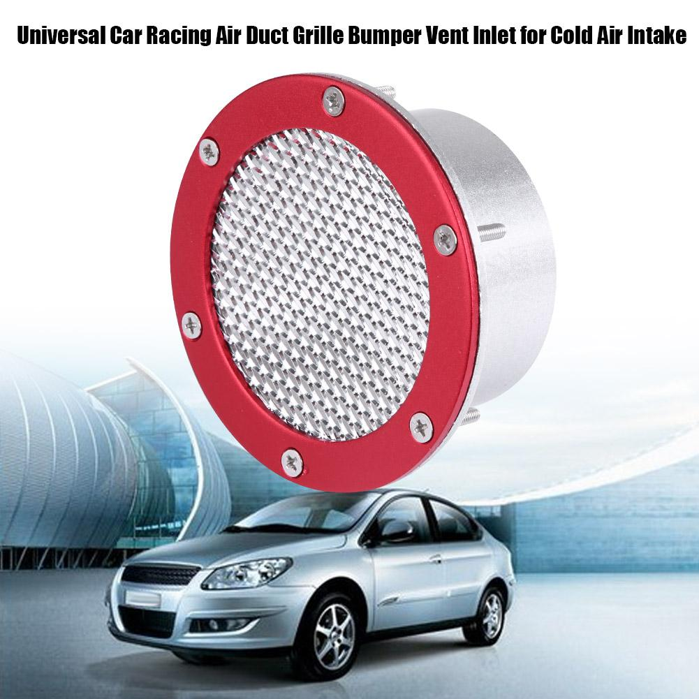 1 Bumper Vent Inlet Air Duct Universal Car Racing Air Duct Grille Bumper Vent Inlet for Cold Air Intake 蓝色