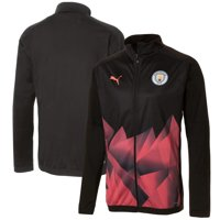 Manchester City Puma Stadium DryCELL Full-Zip Raglan Jacket - Black
