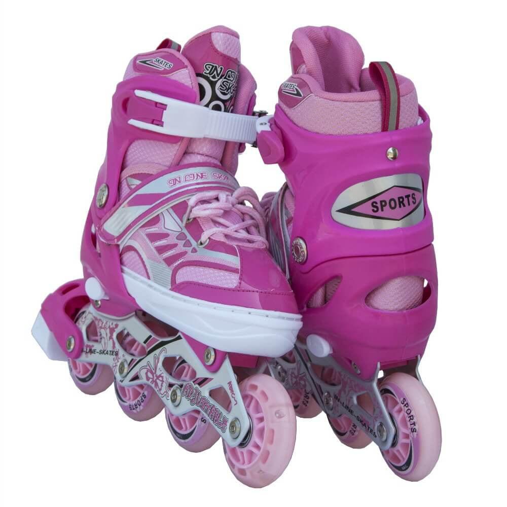 Size 11J-2 Adjustable Kids Light Up Inline Skates