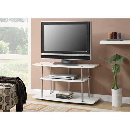 Convenience Concepts Designs2Go No Tools 3 Tier Wide TV Stand, White