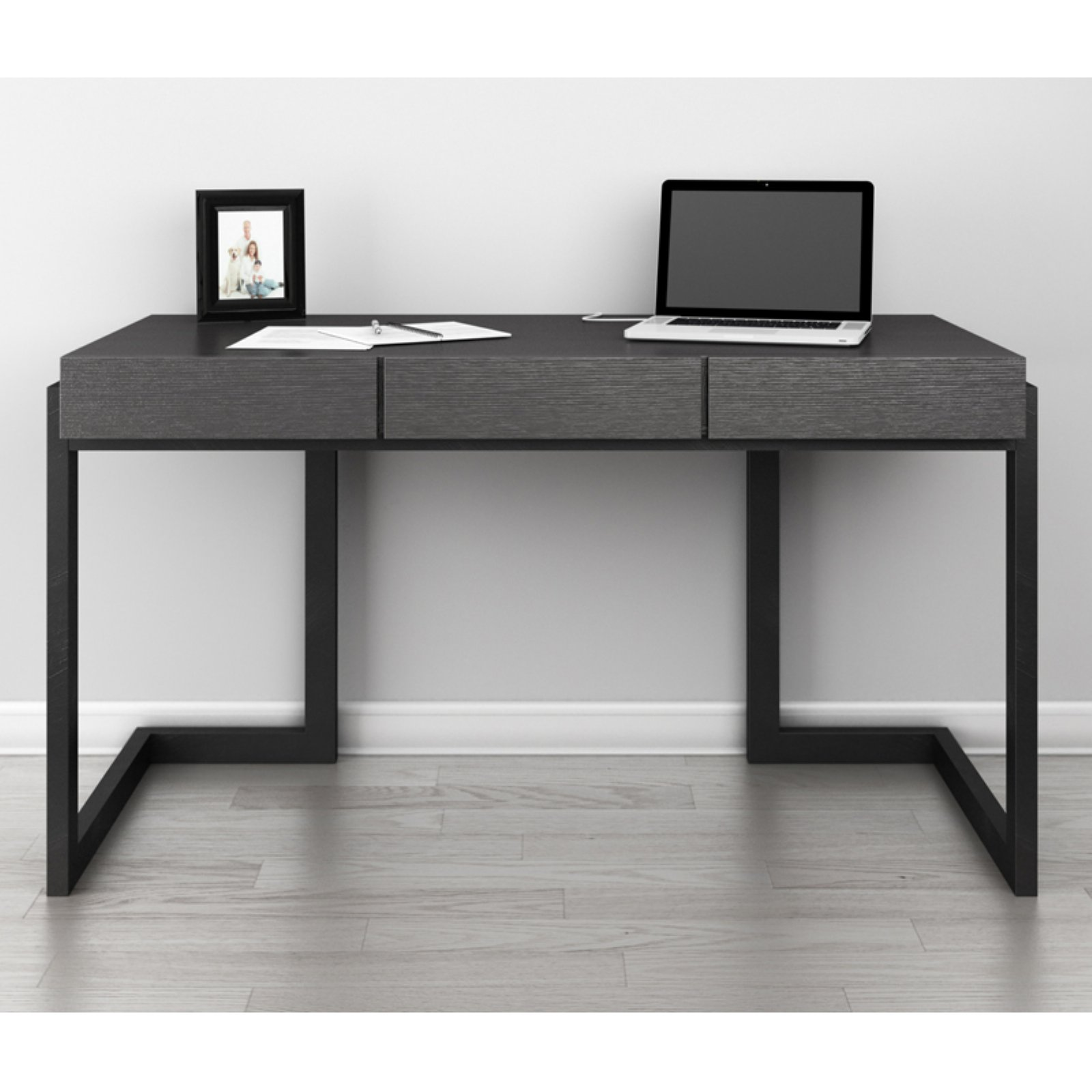 Furnitech Signature Home Graphite Italian Veneer Writing Desk