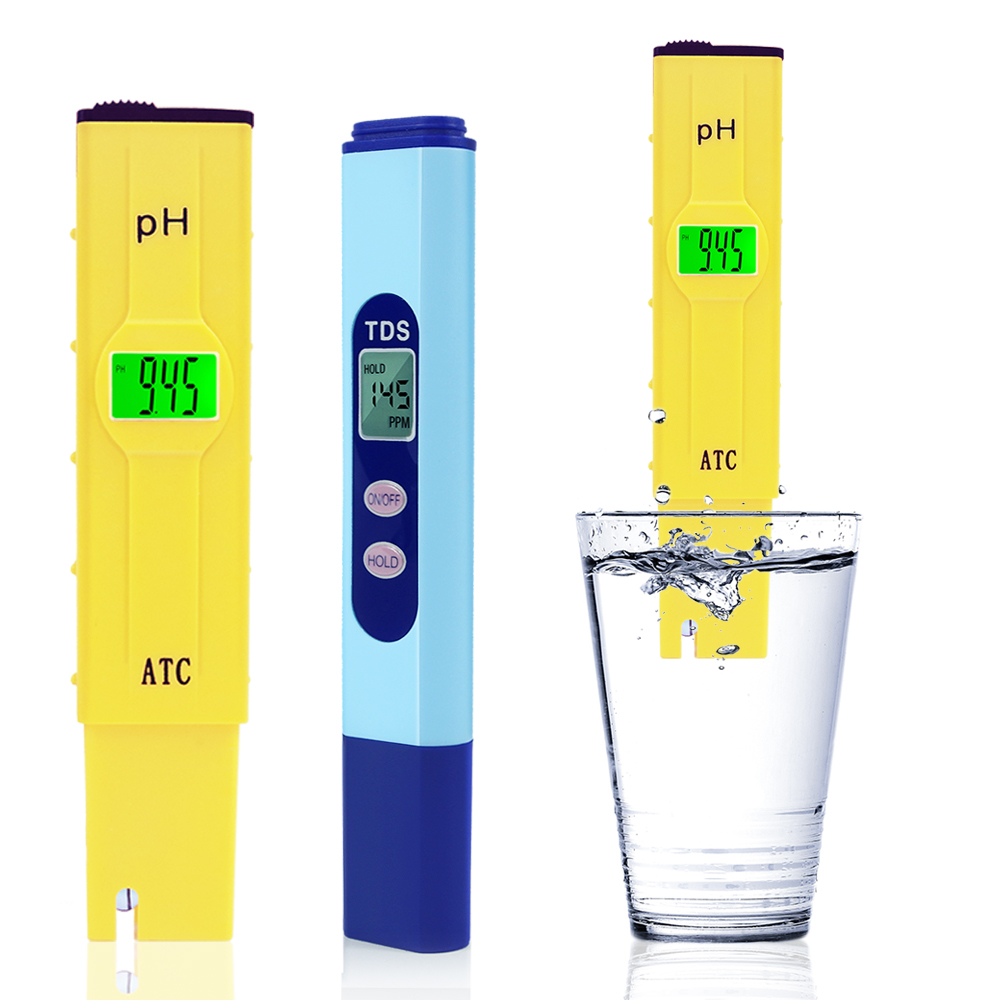 eTopLighting Digital LCD Screen PH Tester and TDS Meter Water Testing Kit for Pools, Spas, Ponds, and Drinking Water , WMLS2540