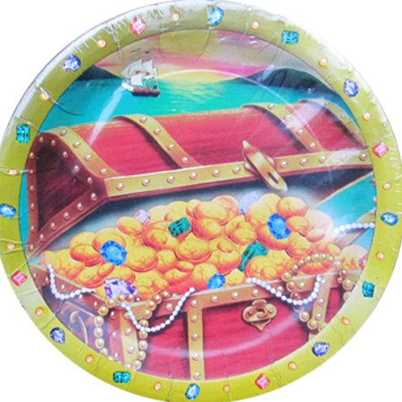 Pirate Treasure Chest Small Paper Plates (8ct)