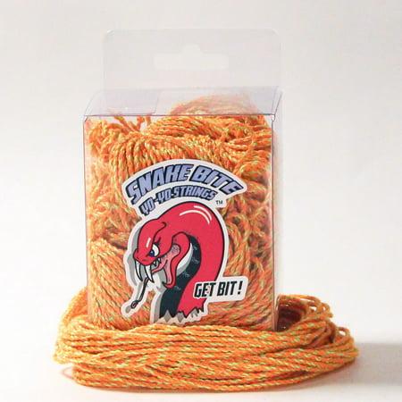 Snake Bite Yo-Yo Strings - 100% Polyester FAT Strings - 100 pack (TWISTED TANGERINE)
