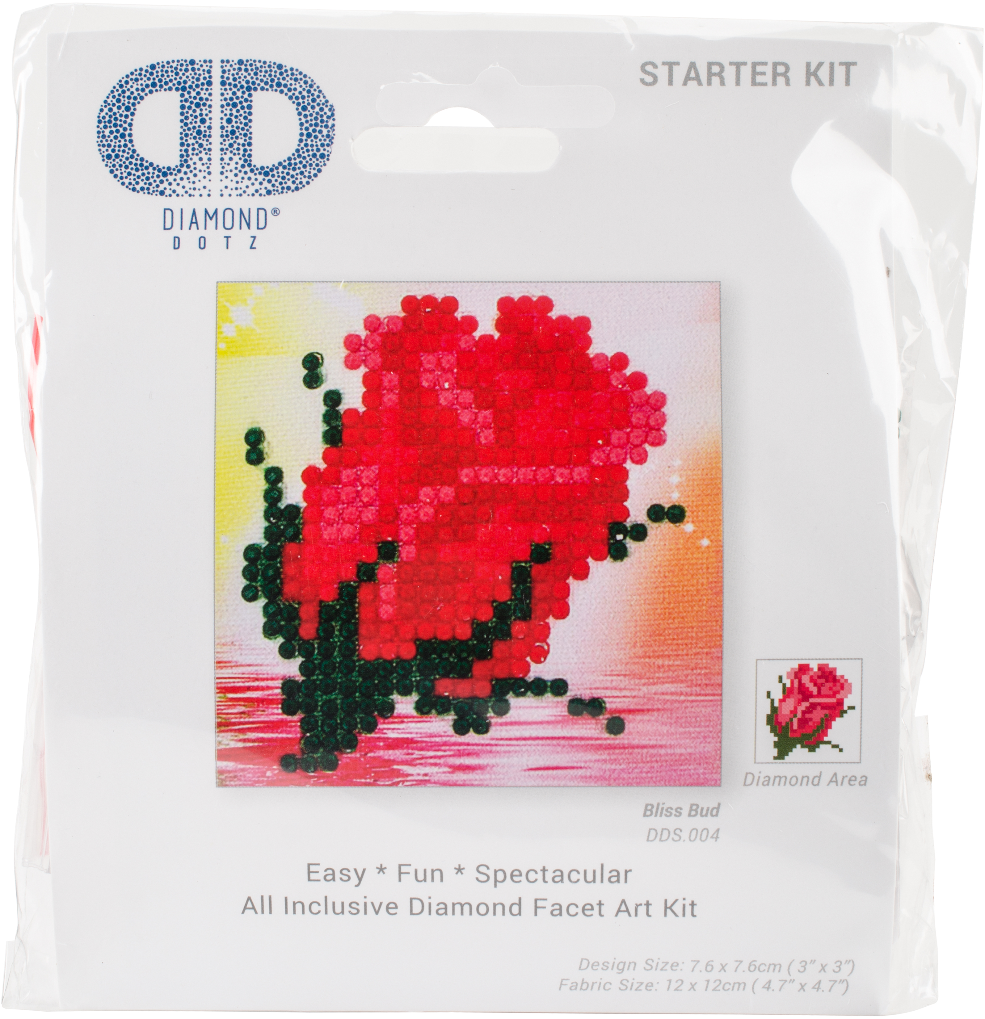 "Diamond Dotz Diamond Embroidery Facet Art Kit 4.75""X4.75""-Bliss Bud"