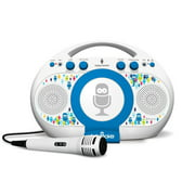 The Singing Machine Tabeoke Portable Bluetooth Karaoke System Compatible with a Variety of Apps, White