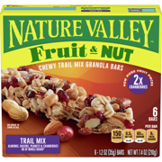 Nature Valley Fruit & Nut Chewy Granola Bars, Trail Mix, 6 Ct, 7.4 Oz