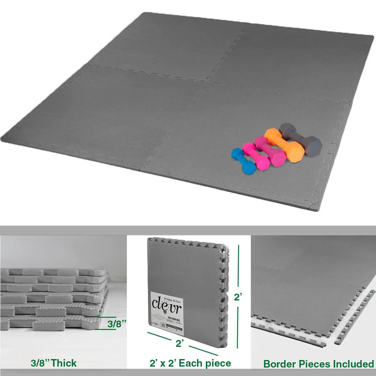 Clevr Interlocking Eva Gym Foam Floor Mat Tiles 24 Quot X 24