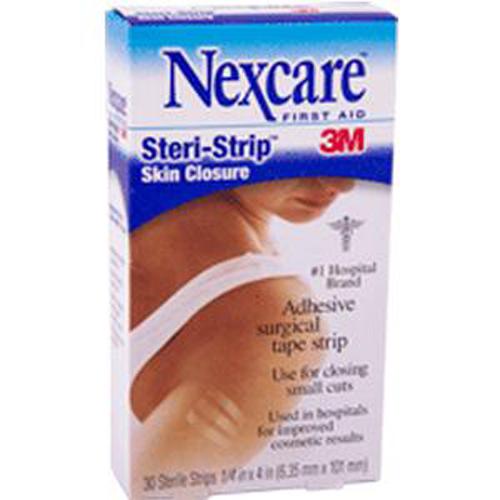 3M Nexcare Steri-Strip Skin Closure Strips, 6-1/3mm x 101mm-Box of 30