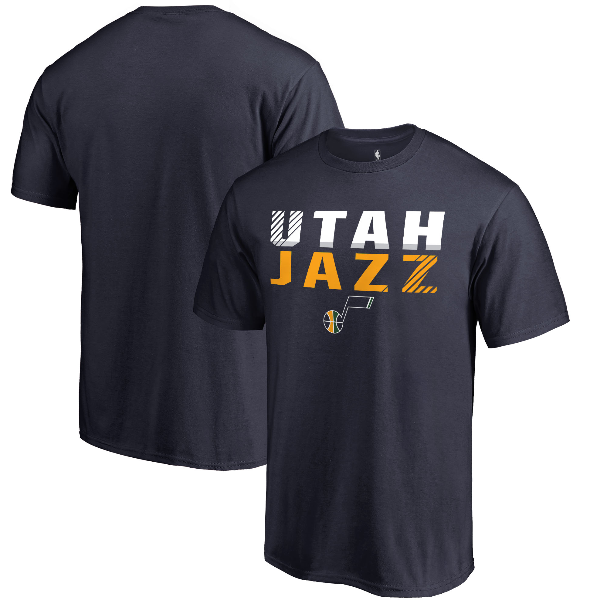 Utah Jazz Fanatics Branded Fade Out T-Shirt - Navy