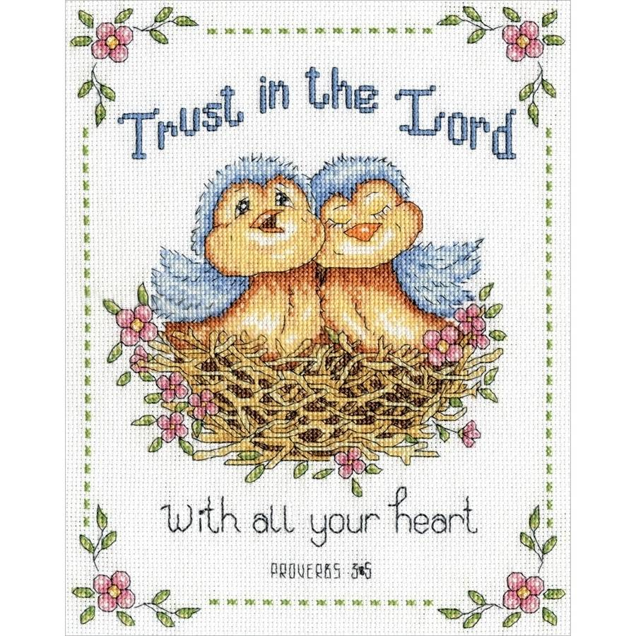 "Trust In The Lord Counted Cross Stitch Kit, 8"" x 10"", 14-Count"