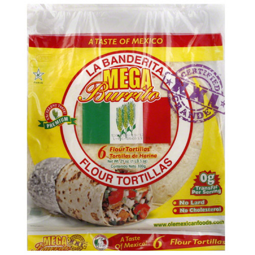 Flour Tortillas, 6 count, 21 oz, (Pack of 12)