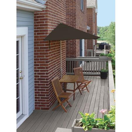 5-Piece Terrace Mates Premium Squared Patio Furniture Set 9' - Chocolate Olefin