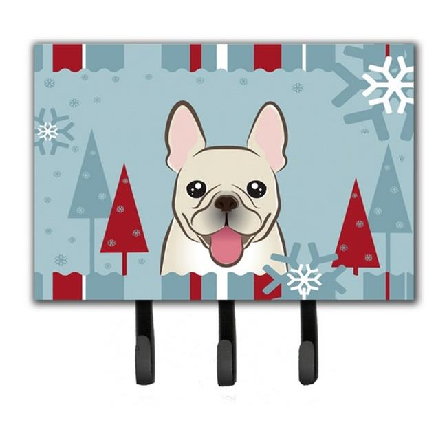 Carolines Treasures BB1734TH68 Winter Holiday French Bulldog Leash & Key Holder - image 1 de 1