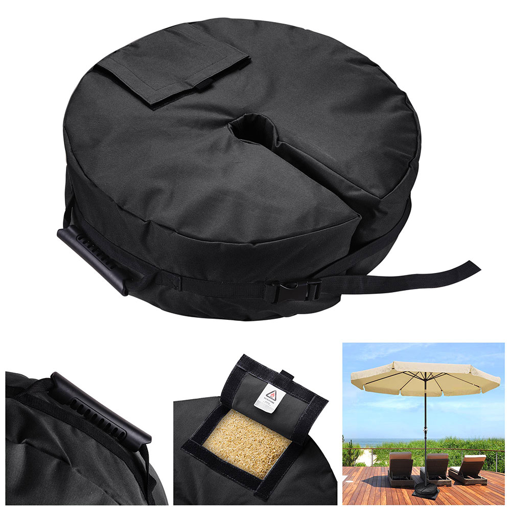 "Yescom 18"" Round Weight Sand Bag 600D Canvas for Outdoor Umbrella Offset Cantilever Base Stand Patio Garden"