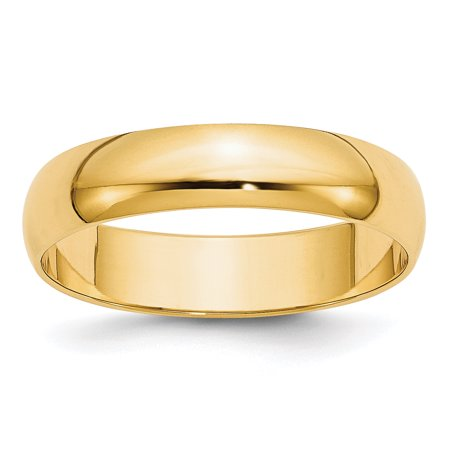 14kt Yellow Gold 5mm Ltw Half Round Wedding Ring Band Size 8.5 Classic Fine Jewelry Ideal Gifts For Women Gift Set From Heart