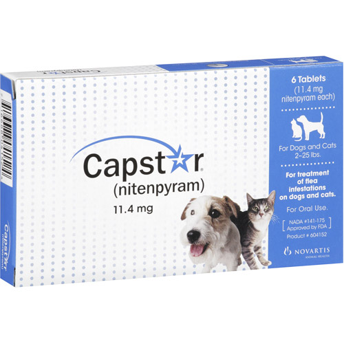 Capstar Oral Flea Treatment for Dogs and Cats, 6 Tablets