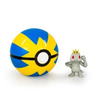 TOMY Pokemon Clip n Carry Poke Ball, Machop and Quick Ball