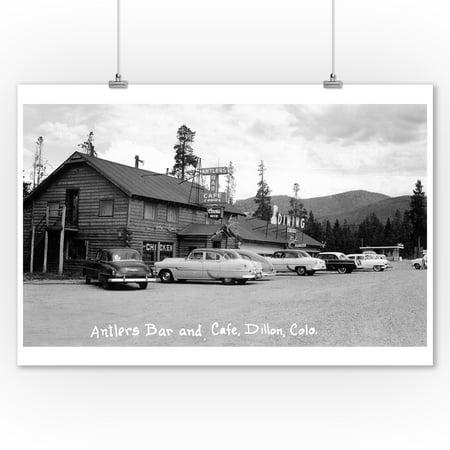 Dillon, Colorado - Antlers Bar and Caf? Exterior Photograph (9x12 Art Print, Wall Decor Travel Poster)