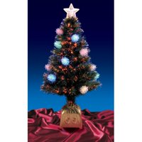 Northlight 4 ft. Pre-Lit Fiber optic Pine Cone Christmas Tree