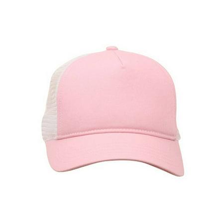 d01b27b07 Short Bill Trucker Cap-Pink White   Walmart Canada