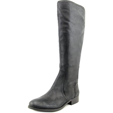 Randee Wide Calf Women Round Toe Synthetic Black Knee High Boot