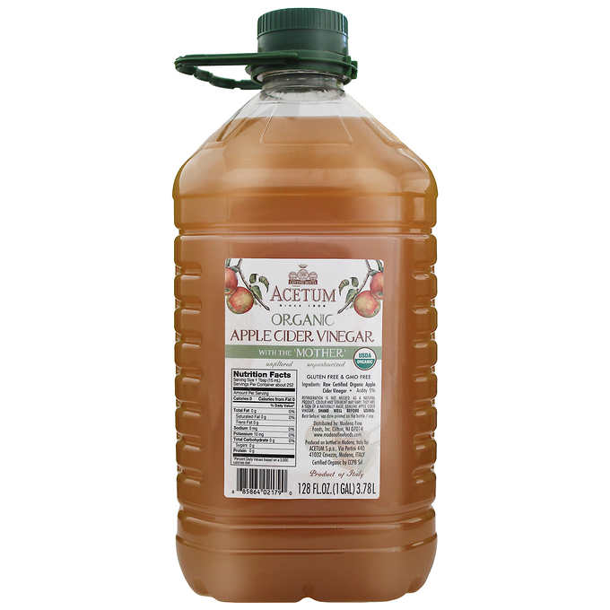 Acetum Organic Apple Cider Vinegar with the Mother, 1 Gallon by