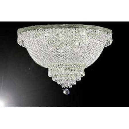 Swarovski Crystal Trimmed Chandelier! Flush Basket Empire Crystal