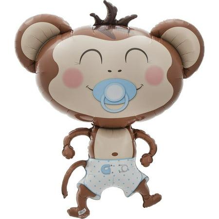 Baby Boy Monkey Jumbo Balloon, 41