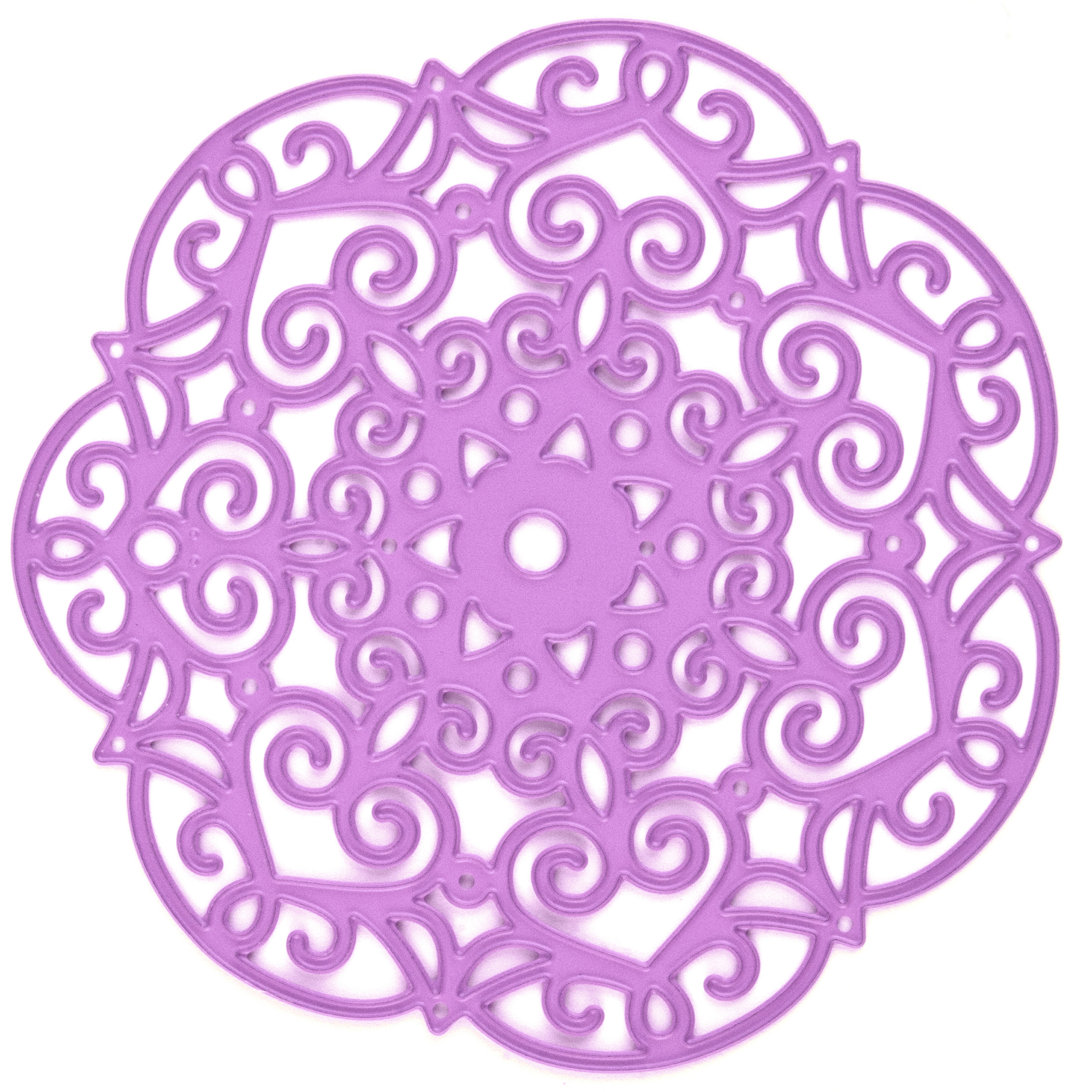 Prima Marketing Purple Metal Die, Embroidery Doily