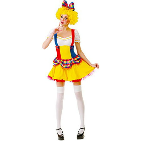 Boo! Inc. Cutie Clown Women's Halloween Costume Sexy Harlequin Circus Performer Dress for $<!---->