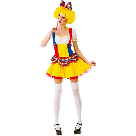 Boo! Inc. Cutie Clown Women's Halloween Costume Sexy Harlequin Circus Performer Dress