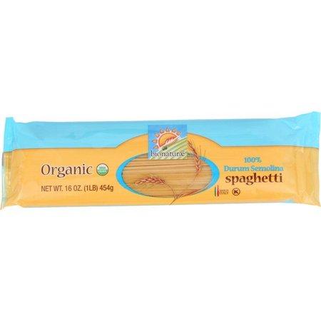 Bionaturae Organic Pasta - Bionaturae Pasta - Organic - 100 Percent Durum Semolina - Spaghetti - 16 Oz - pack of 12