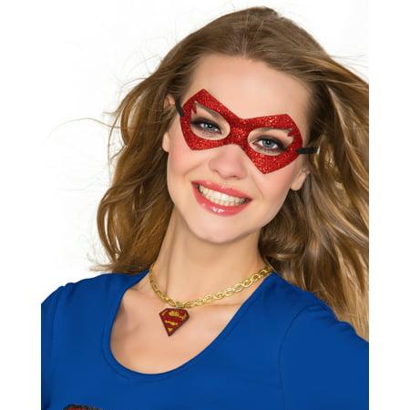 DC Comics Superhero Supergirl Choker Neckpiece Necklace Costume Accessory (Supergirl Costume Accessories)